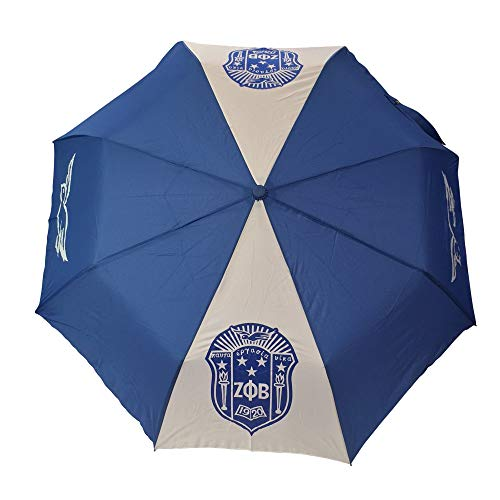 (Zeta Phi Beta G3103 Umbrella, Two Carbon Fiber Ribs Sorority Divine Nine Greek)