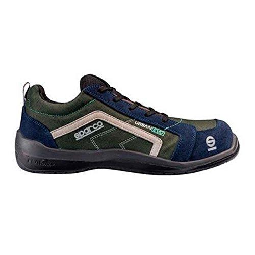 Sparco 0751844VOBM Zapatillas, Verde/Azul, 44 S0751844VOBM