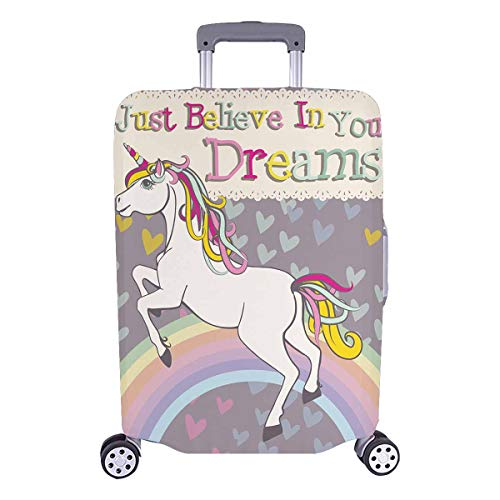 InterestPrint Funny Unicorn with Inspiring Quotes Luggage Cover Suitcase Bag Baggage Cover for 26