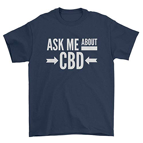 Ask Me About CBD T-Shirt Navy