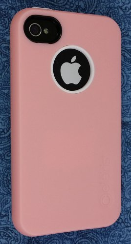 Rapture Full Moon Two-Piece Snap-On Case with Silicone Interior Skin for Apple iPhone 4 / 4S - Light Pink / White