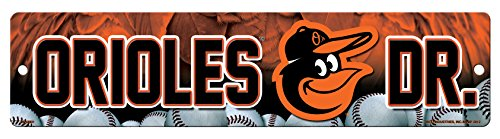 MLB Baltimore Orioles High-Res Plastic Street Sign Baltimore Orioles Mlb Wall