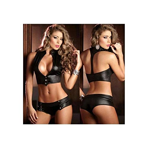intimo Black lingerie pelle in Completo nero vestito Moda q8RTCwa
