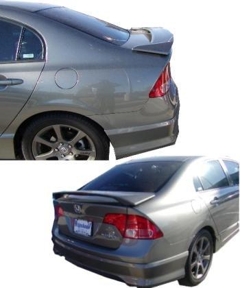 Honda Civic Spoiler 06+ SEDAN Factory Alerón trasero sin pintar Primer