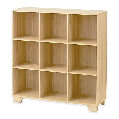 Real Simple® 9-Cube Storage Unit in (Natural Wood Cube Organizer)