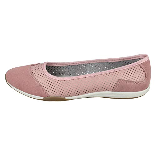 Unique Femme Rose Earth Coloris Pour Down Assortis Ballerines To Taille Iwvqwg8Hn