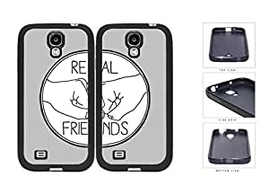 Real Friends Fist Pound Best Friends Set Rubber Silicone TPU Cell Phone Case Samsung Galaxy S4 SIV I9500