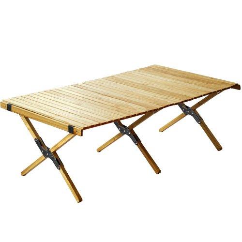 アウトプットライフ ウッド ロールトップテーブル OUTPUT LIFE WOOD ROLL TOP TABLE [ ブラック/Lサイズ ] B06Y63D3M7