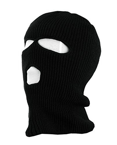 NYFASHION101 Winter Warm Ribbed 3 Hole Face Ski Mask - - Mask Ski Hole