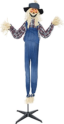 Scary Haunted House Animated Standing Scarecrow Theme Party Halloween Prop]()