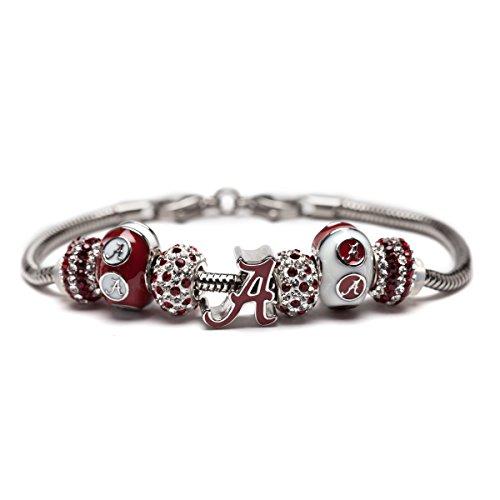 University of Alabama Charm Bracelet | Crimson Tide Gifts | Stainless Steel Alabama Jewelry | Alabama Logo Charm Bracelet by Stone Armory (Image #7)'