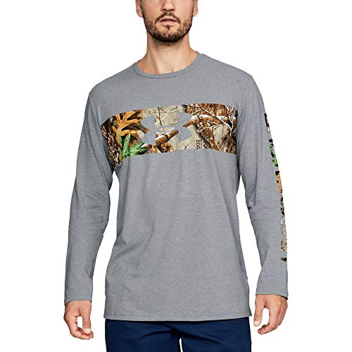 Under Armour Men's Banded Camo Long sleeve, Steel Light Heather (035)/Black, X-Large