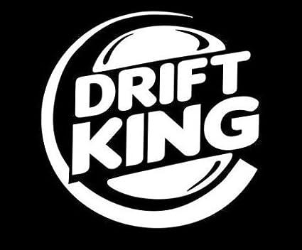 Drift King Sticker Vinyl Decal - Turbo Racing Euro Fast Boost Jdm Car Window, Die