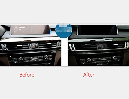 f459a40d603 Amazon.com  For BMW X6 F16 2015 Interior Accessories Trim Dashboard Console  AC Air Outlet Cover Decoration Stainless  Automotive