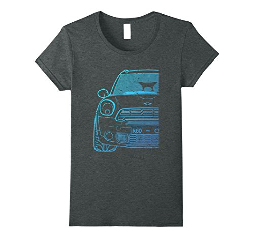 Womens 60R Series Blue Roughed Hatch Tshirt Medium Dark Heather (100 Series Hatch)