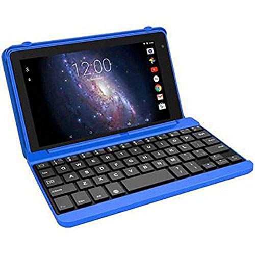 """Premium High Performance RCA Voyager Pro 7"""" 16GB Touchscreen Tablet With Keyboard Case Computer Quad-Core 1.2Ghz Processor 1G Memory 16GB Hard Drive Webcam Wifi Bluetooth Android 6.0-Blue (Renewed)"""