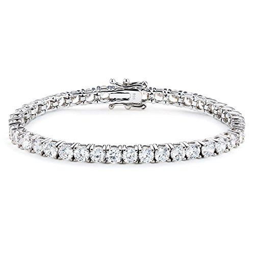 10 cttw Sterling Silver New York Exceptional Cut 7 inch Tennis Bracelet by Gift from New York