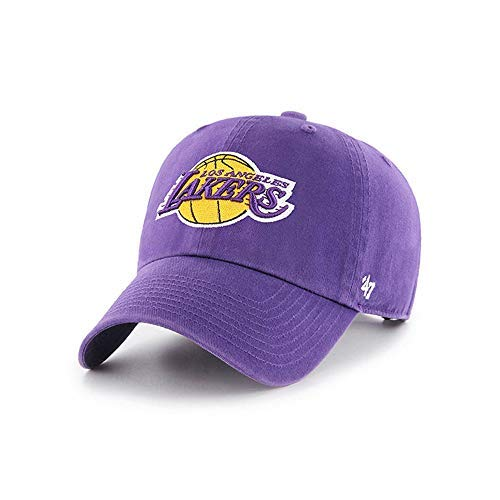 (47 Brand Los Angeles Lakers Clean Up Slouch Fit Adjustable Hat (Purple))
