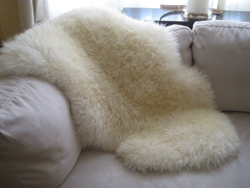 SNUGRUGS Genuine Natural Ivory Sheepskin Rug (SuperLarge)