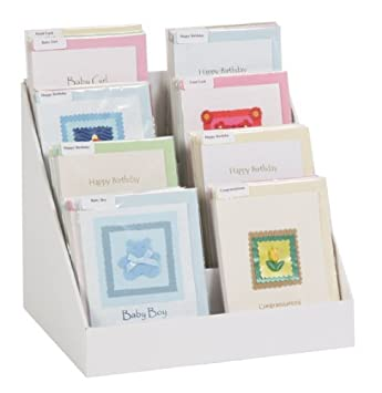 40 Cardboard Greeting Card Display Stand Amazoncouk Kitchen Home Fascinating Cardboard Display Stands Uk
