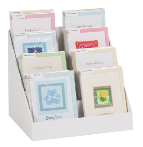 40 Cardboard Greeting Card Display Stand Amazoncouk Kitchen Home Fascinating Cardboard Card Display Stand