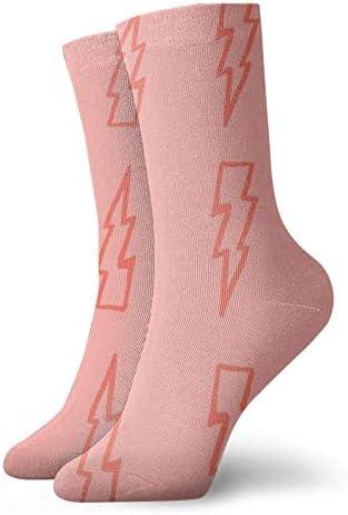 Roze Lightning Sokken Classic comfort Atletische Casual Sokken 30cm118 inch Voor Unisex wen en vrouwen