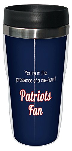 Tree-Free Greetings sg24126 Patriots Football Fan Sip 'N Go Stainless Steel Lined Travel Tumbler, 16-Ounce