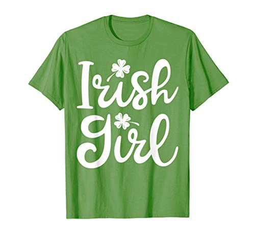 Irish Girl T shirt St Patricks Day Irish Women Shamrock ()