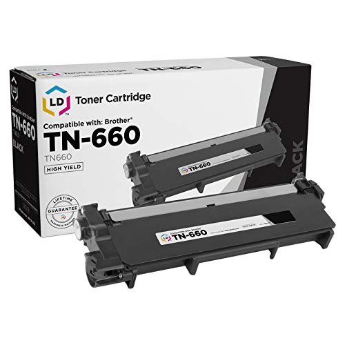 LD Compatible Toner Cartridge Replacement for Brother TN660 High Yield (Black)