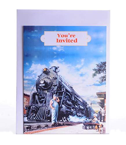 (TrainWeb LLC Whistle Stop Invitation Cards (8 ct))