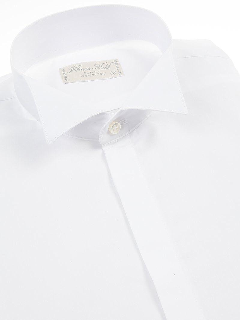 Bruce Field camisa blanca y cuello roto hebilla 4367 modelo de mosquetero blanco medium: Amazon.es: Ropa y accesorios