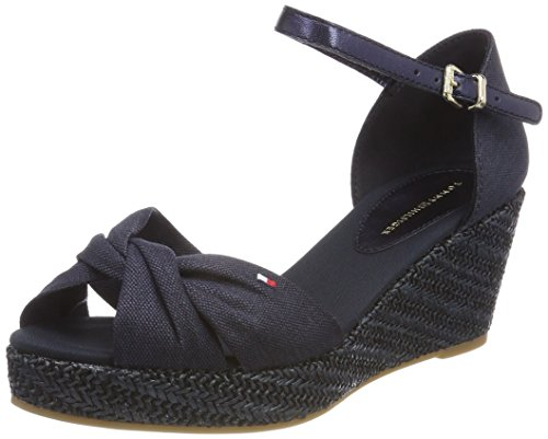 Tommy Hilfiger Damen Iconic Elba Metallic Canvas Espadrilles Blau (Midnight 403)