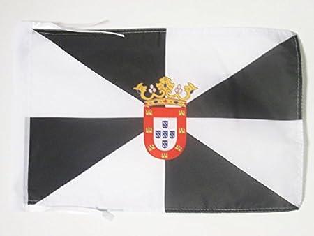 AZ FLAG Bandera de Ceuta 45x30cm - BANDERINA ESPAÑOLA - ESPAÑA 30 x 45 cm cordeles: Amazon.es: Hogar