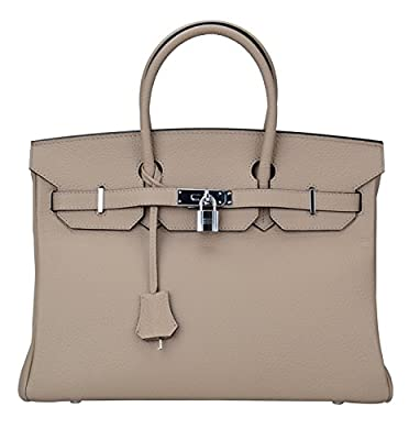 Qidell Women's Padlock Handbags With Silver Hardware On Clearance