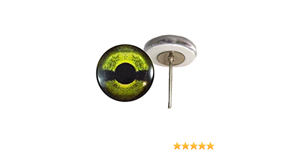 Green Sea Turtle Glass Eyes On Wire Pin Posts for Needle Felting Doll Sculpture Making Taxidermy Supplies and Other Crafts 6mm