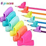 Sumind 6 Pieces Children Pencil Holder Grips Pen Writing Grip Posture Correction Tool for Pencils
