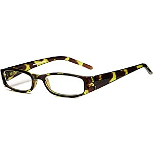 Green Looks Green Tortoise Reading Glasses and Green Looks Zebra Stripe Reading Glasses in +1.50 Strength Power (2 Pairs with Cases for One Price)