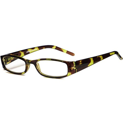 Green Looks Green Tortoise Reading Glasses and Green Looks Zebra Stripe Reading Glasses in +1.50 Strength Power (2 Pairs with Cases for One - Prescribed Glasses