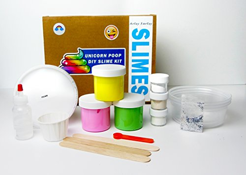 Seven Of Nine Costume Diy (Artsy Fartsy DIY Slime Kit, Unicorn Poop Slime for Stretchy, FLuffy Floam)