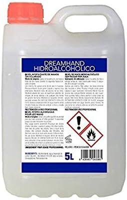 DREAM HAND - GEL HIDRO-ALCOHÓLICO HIGIENIZANTE DE MANOS SIN ACLARADO Envase 5 Litros