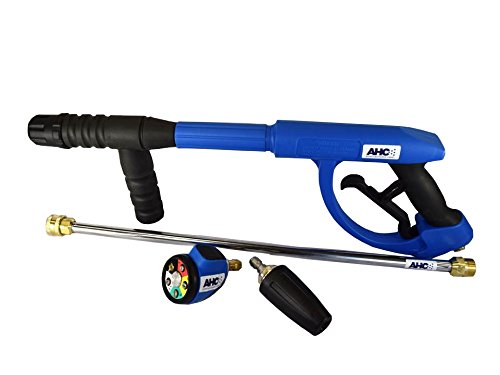 "B06XGYBN1T American Hydro Clean AHCGUNKIT7 M22 Ergo Pressure Washer Gun 3600PSI, 20"" Lance, Multi-tip and Turbo Nozzle, Blue (Pack of 4) 417pxMPDysL"
