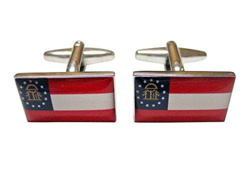 Kiola Designs Georgia State Flag Cufflinks