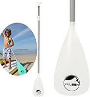 YVLEEN Kids SUP Paddle - 3 Piece Adjustable Stand Up Paddle Board Paddles - Durable, Lightweight & Floatin