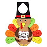 Thanksgiving Turkey Door Hanger and Craft Kit Made of Foam (Makes 2)