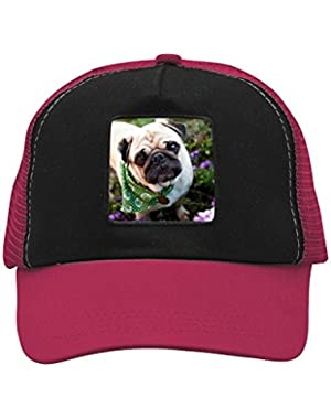 Unisex A Pug Life Dog Adjustable Classic Hiphop Hat Baseball Cap Snapback Dad Hat