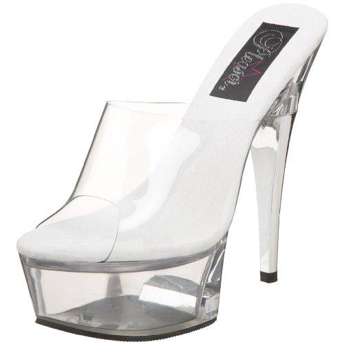 Captiva Women's Pleaser 601 Slide Clear Platform Clear qz707Cw