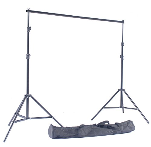 NiuBea Studio 8ft x 10ft Photography Studio Backdrop Photo Video Support System 2 Background Stands 4 Adjustable Cross Bars