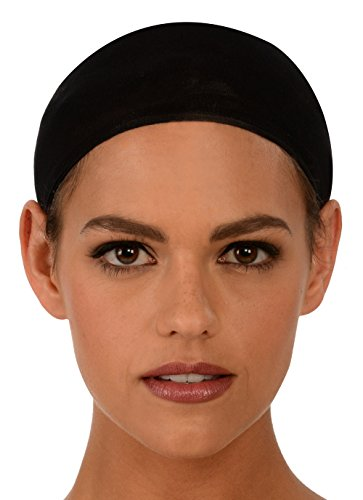 Kangaroo's Fashion Costume Wig Cap, Color Choice (Package of (Black Wig Cap)