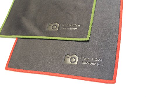 Reusable Clear Screen ([12 Pack] Clean & Clear Microfiber - ULTRA PREMIUM QUALITY Lens Cleaning Cloths - Camera Lens, Glasses, Screens, and all Lens.)