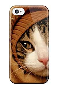 High-end Case Cover Protector For Iphone 4/4s(cat On A Sleeve Jacket)